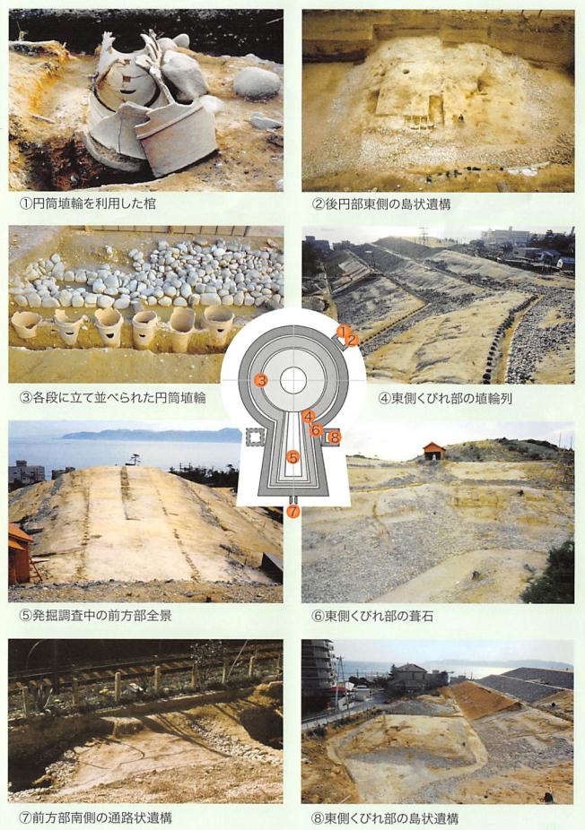 神戸『五色塚古墳』発掘時の風景写真