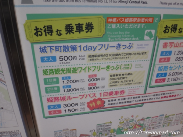 『城下町散策1dayフリーきっぷ』看板