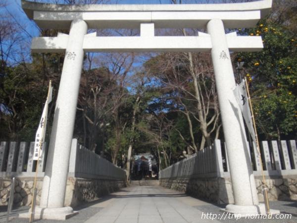 『保久良神社』鳥居