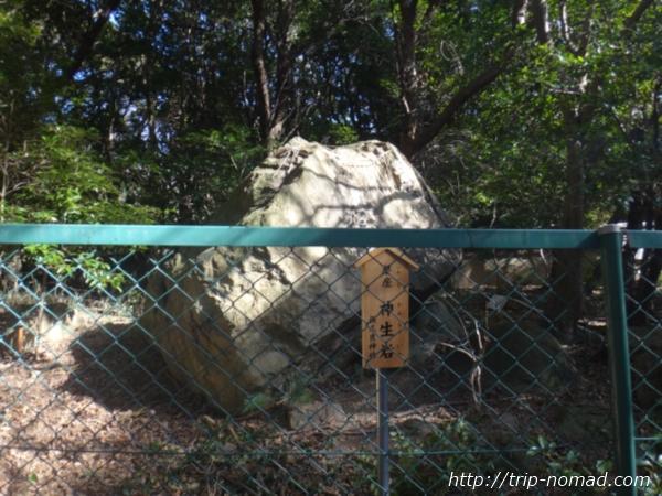 『保久良神社』磐座「神生岩(かみなりいわ)」