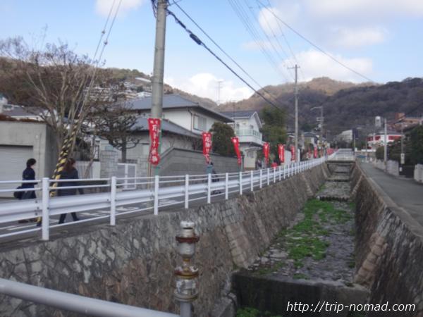 「岡本駅」から『保久良神社』への行き方 岡本八幡神社への道
