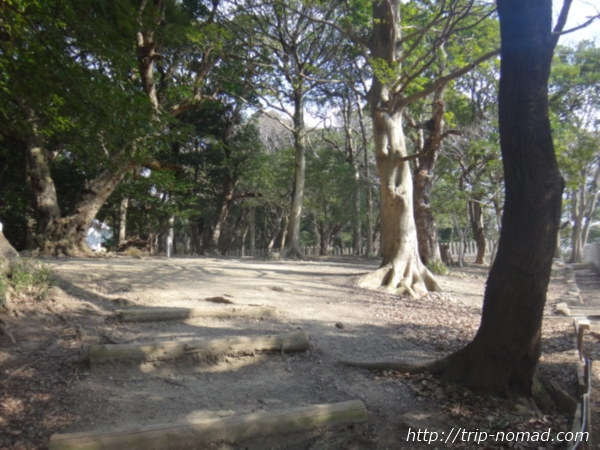 「岡本駅」から『保久良神社』への行き方 金鳥山の山道 神社手前