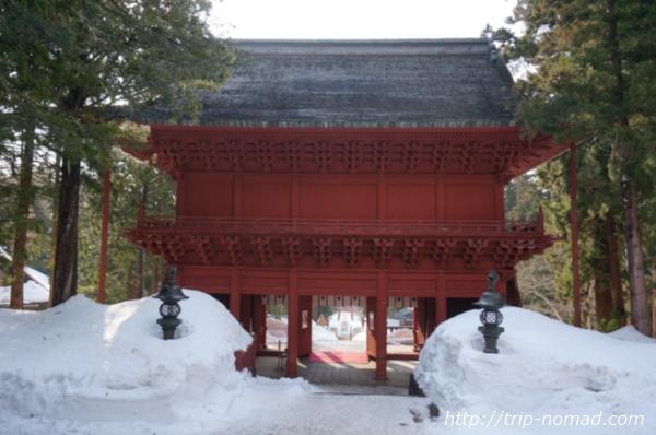 青森県弘前市『岩木山神社』楼門裏側
