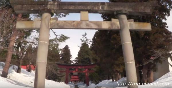 青森県弘前市『岩木山神社』鳥居