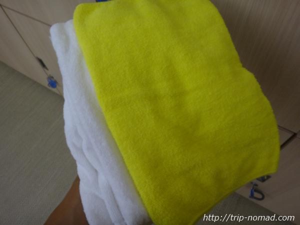 『京都タワー大浴場~YUU~』無料で貸してもらえるタオルとレンタルバスタオル