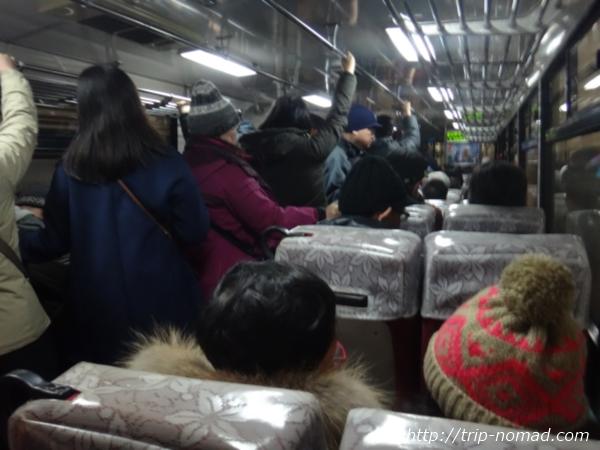 立山黒部アルペンルート「立川トンネルトロリーバス」車内