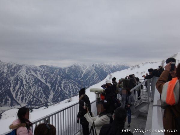 立山黒部アルペンルート「大観峰」から見る後立山連峰