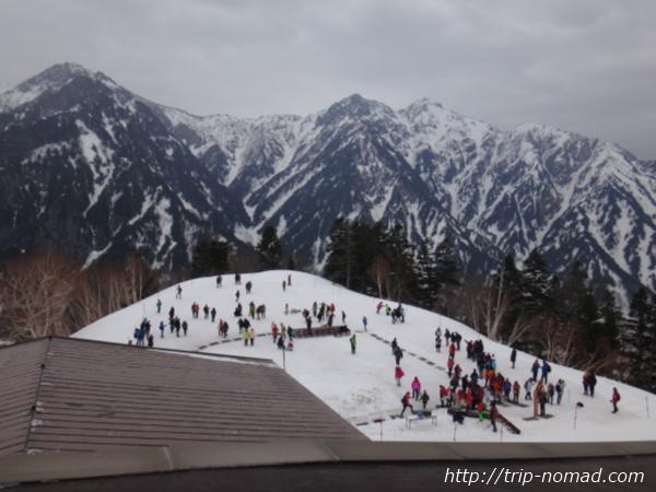 立山黒部アルペンルート「黒部平」からの冬山絶景