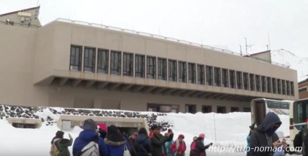 立山黒部アルペンルート『雪の大谷ウォーク』「室堂ターミナル」建物外観