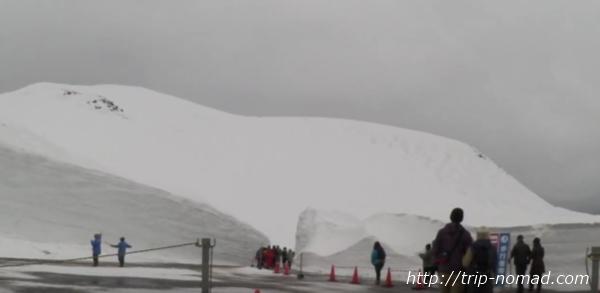 立山黒部アルペンルート『雪の大谷ウォーク』「雪の大谷入り口」
