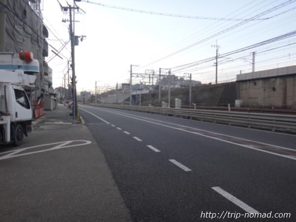 『スターバックス神戸西舞子店』へ向かう国道2号線