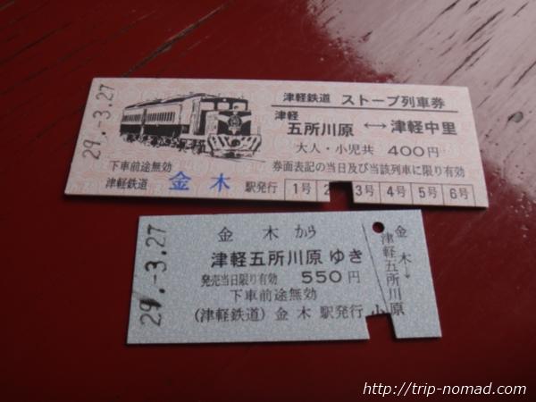 青森県『ストーブ列車』金木駅で購入した列車券