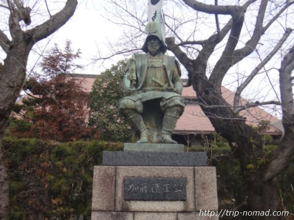 名古屋『妙行寺』加藤清正公の銅像