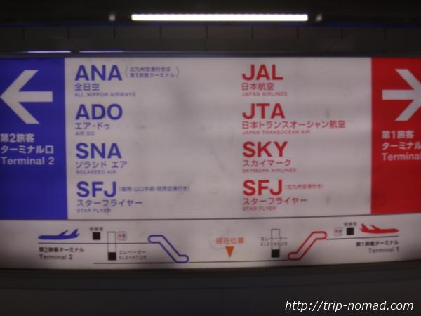 羽田空港「第1ターミナル」「第2ターミナル」利用航空会社