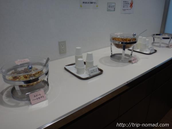 鹿児島空港ラウンジ『スカイラウンジ菜の花』軽食画像