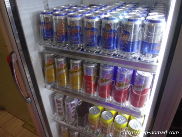 『SATSプレミアラウンジ』ビールが入った冷蔵庫
