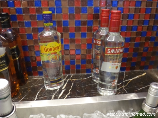 『SATSプレミアラウンジ』ウォッカやジンなどのアルコール類