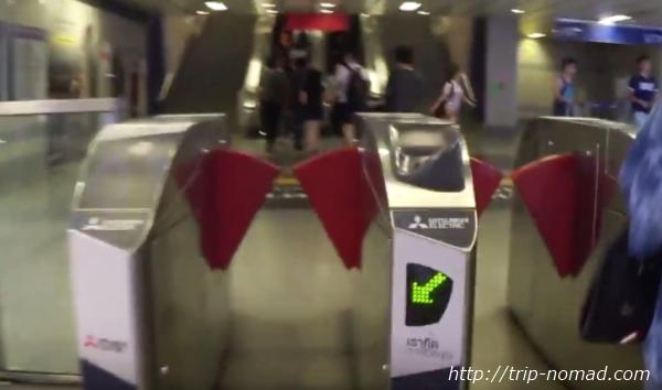 バンコク『MRT』自動改札機