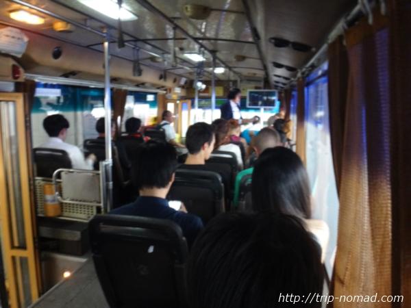 『ドンムアン空港』から市内へのアクセス>バス車内