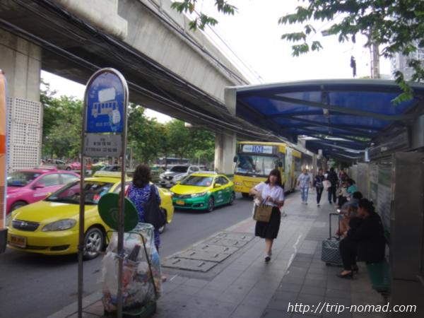『ドンムアン空港』から市内へのアクセス>バス下車