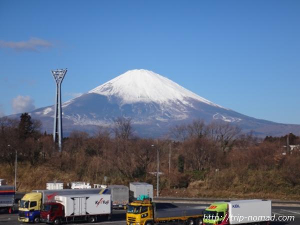 『WILLER EXPRESS(ウィラー・エクスプレス)』足柄SAから見える富士山