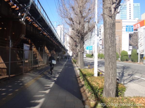 名古屋「ささしまライブ」から名古屋駅方面への道