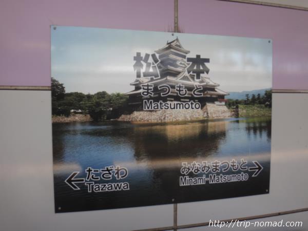 松本駅看板