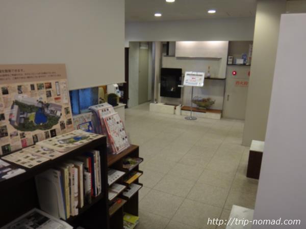 『ホテルガーデンスクエア静岡』フロント横の待合室