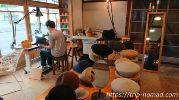 『桐生観光』手作りの帽子のお店「Usine」