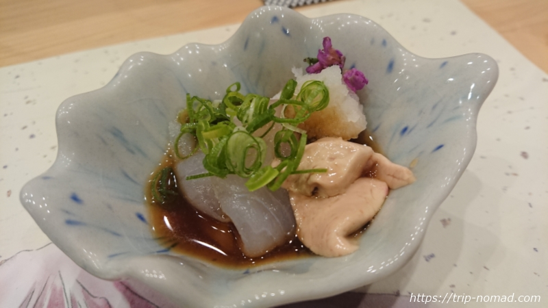 淡路島の寿司屋『鮨夢(すしゆめ)』カワハギポン酢