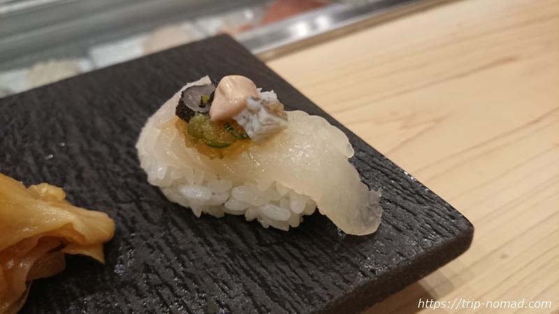 淡路島の寿司屋『鮨夢(すしゆめ)』オコゼ握り