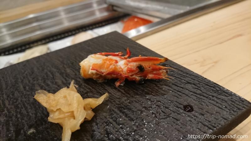 淡路島の寿司屋『鮨夢(すしゆめ)』赤海老のお頭焼き