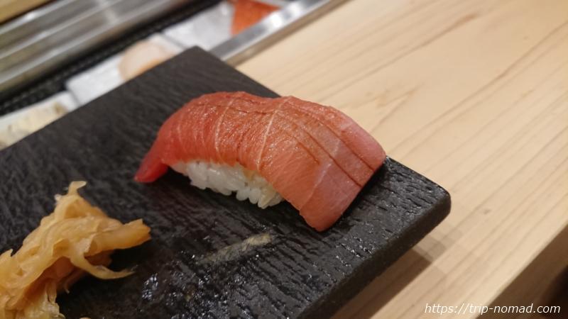 淡路島の寿司屋『鮨夢(すしゆめ)』マグロ握り