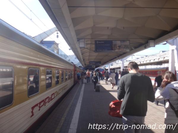 ロシアサンクトペテルブルク「モスコフスキー駅」ホーム画像