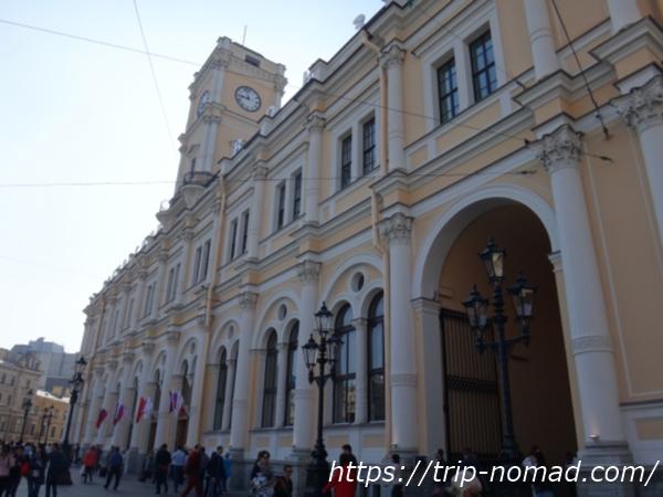 ロシアサンクトペテルブルク「モスコフスキー駅」画像