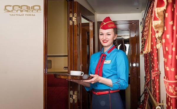 ロシア『グランドエクスプレス』スタッフの制服画像