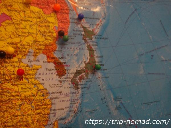 『マトリョーシカ ホテル』世界地図