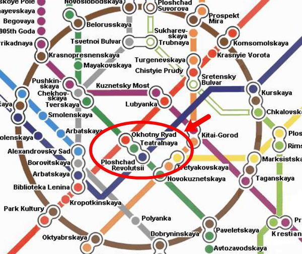 『モスクワ『メトロ(地下鉄)』路線図マップ画像