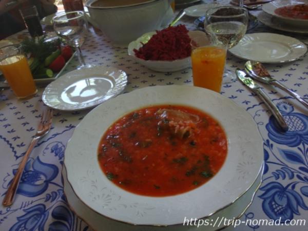 ロシアの家庭のスープ画像