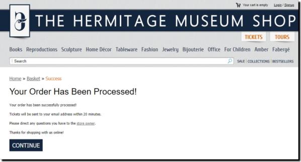 ロシア・サンクトペテルブルグ『エルミタージュ美術館』ネット事前チケット予約購入買い方の方法画像