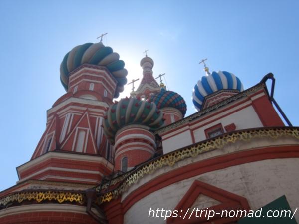 ロシアモスクワ『聖ワシリー大聖堂』北東から