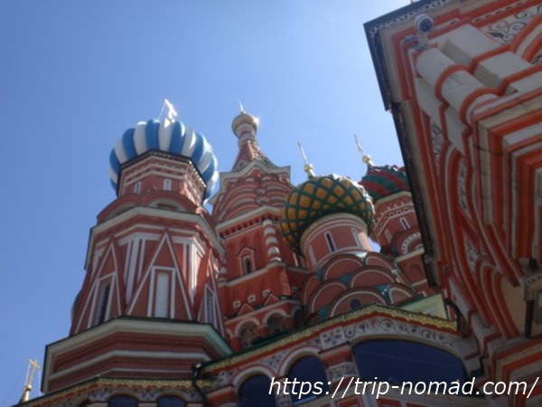ロシアモスクワ『聖ワシリー大聖堂』北西から