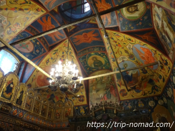 ロシアモスクワ『聖ワシリー大聖堂』内教会ドーム