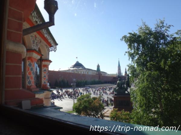 ロシアモスクワ『聖ワシリー大聖堂』内部からの景色