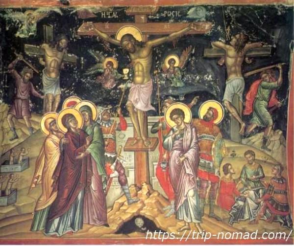 キリストの磔刑の絵