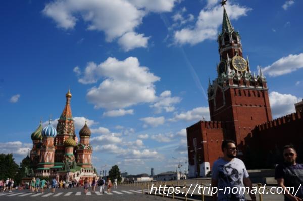 ロシアモスクワ『聖ワシリー大聖堂』赤の広場から
