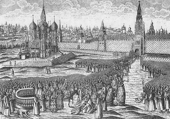 ロシアモスクワ16世紀当時の『聖ワシリー大聖堂』