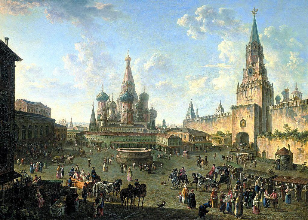 ロシアモスクワ1802年当時の『聖ワシリー大聖堂』