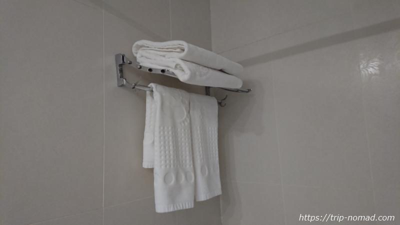 ウラジオストク『ベルサイユホテル』洗面所バスタオル