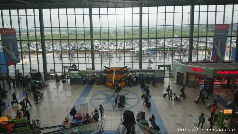 ロシア・ウラジオストク空港タクシーブース画像